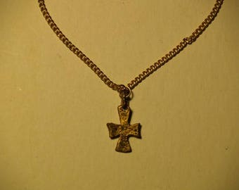 Byzantine Small Cross Necklace Replica