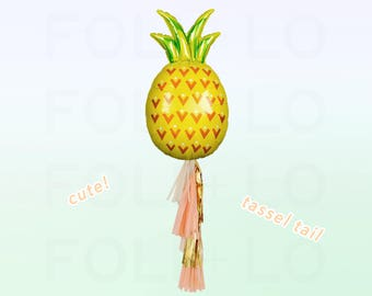Summer PINEAPPLE Balloon | HUGE Pineapple Balloon | Pineapple Party Theme | Pineapple Balloon Decoration | Balloon Tassel Tail