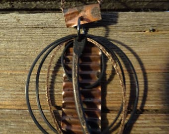 Corrugated Copper with Rings & Stick