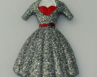 Mannequin Dress Brooch
