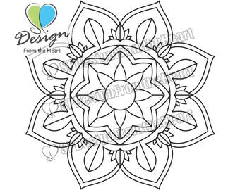 Simple Mandala Coloring Page #8, Printable Adult Coloring Page, Digital Download, Relaxation, Meditation, Peace
