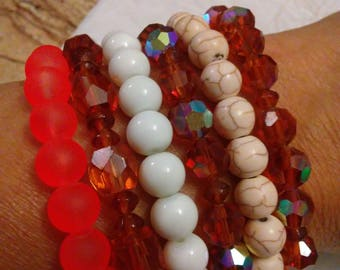Handmade stackables bracelets