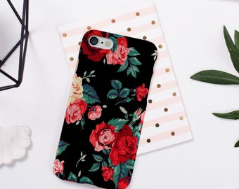 Floral Phone Case iPhone 8 Case iPhone 8 Plus Case iPhone 7 Case iPhone 7 Plus Case iPhone 6 6s 5 5s se case samsung s6 s7 s8 case iphone x