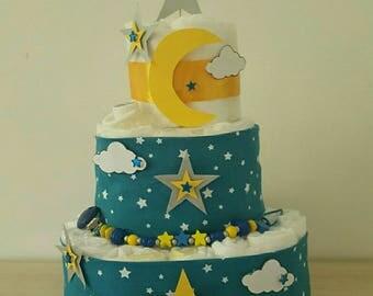 "beautiful diaper cake ""Bonne nuit les petits"""