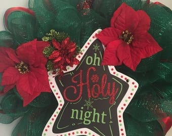 O Holy Night Christmas Wreath