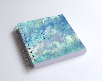 "Notebook 4x4"" decorated with motifs of marbled papers - 27"