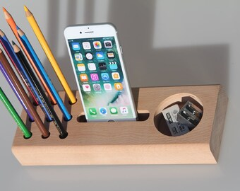 Stationary desk organizer,Gift for mom,Gift for men,Gift for boyfriend,Gift for women,Gifts for him,Gifts for her,Personalized gift ideas