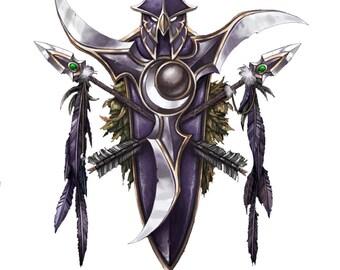 World of Warcraft night elf crest wall art