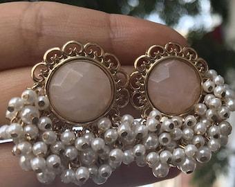 Vintage Pearl Drop Earrings - WOW