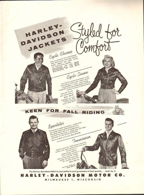 1955 Harley-Davidson Leather Motorcycle Jackets Ad #5509amot02