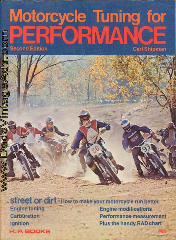1973 Motorcycle Tuning for Performance by Carl Shipman Book #mb615