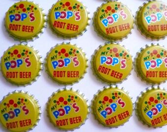 Vintage Metal Bottle Caps Pops Root Beer Soda Caps Craft Supplies  Bottle Caps Altered Art Jewelry Supplies