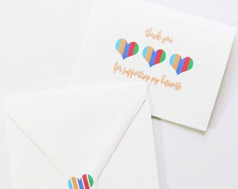 Stickers - Perfect for Rodan and Fields Consultants - Striped Heart Sticker - Envelope Sticker
