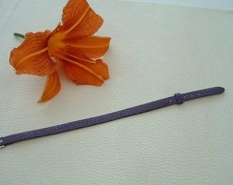 FAUX leather lizard purple 22cm width 8 mm bracelet