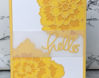 Yellow Floral Hello Card