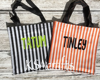 Halloween bag, Halloween tote, Halloween trick or treat bag