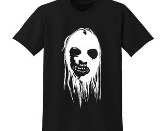 SCARY HALLOWEEN FACE Graphic Tshirt Trick or Treat Horror Fancy Dress Costume |