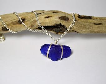 Blue Sea Glass Pendant