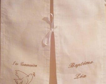 embroidered gold Communion/baptism scarf Angel