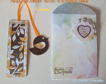 """Bookmark with """"NATURE"""" bird and its matching gift bag"""