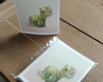 O'Lily Art My Little Pony G1 Vintage Baby Frosting Blank Note Cards w/Envelopes (5 ct.)