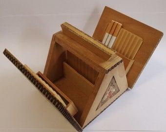 Cigarette Box, Cigarette Holder, Cigarette Roller, Smoker Gift, Cigarette Dispenser, Gift for Him, Wooden Box, German Wood Carving