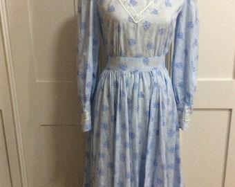 1970's Vintage Prarie Dress