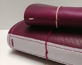 Genuine Leather Traveler's Notebook - Deep Plum