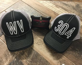 State abbreviation,area code, or zip code  embroidery ball hat (any state or code).