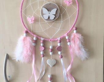 Handmade dreamcatcher, dream catcher, or dream catcher. The Center is made with a white cotton thread.