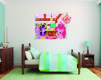 My Little Pony And Window 3D Effect   Window Wall Effect 3D   Wall Decal For Part 92
