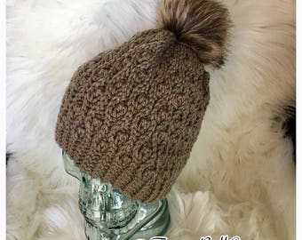 Faux Fur Crochet Beanie - Winter Hat, Handmade, Many Colors Gorro Toque Beanie Cap Basic Bitch Accessory Fashion