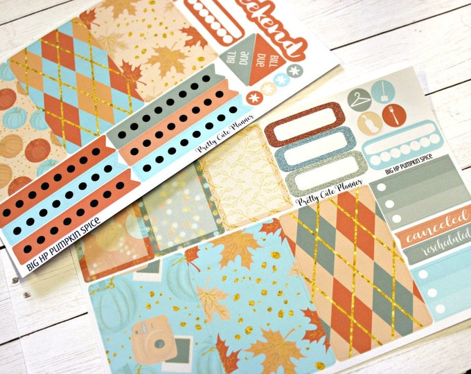 BIG Happy Planner Planner Stickers - Weekly Planner Sticker Set - Happy Planner - Day Designer - Functional stickers - Pumpkin Spice - Fall