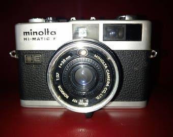 Minolta hi-matic f with a rangefinder 35mm camera. 2.7 lens