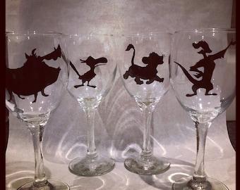 Hand painted Disney Lion King set