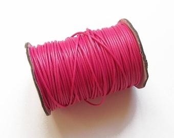 Pink 2 mm waxed braided nylon cord / wire shamballa