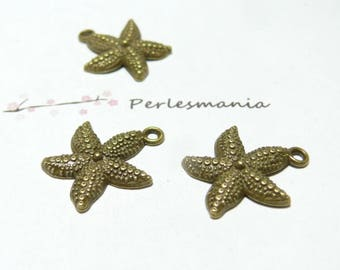 4 2D1856 GM BR Starfish charms