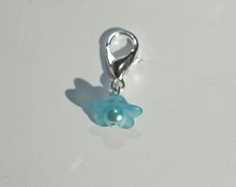 Charm / charm with clasp / hook and his mini flower turquoise breastfeeding bracelet or other