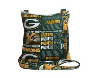 20% OFF SALE Green Bay Packers Crossbody Bag // Sling Bag // Crossbody Purse // Shoulder Bag // Hipster // NFL