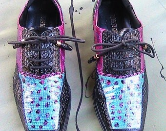 Size 9 ROBERTO CHILINI Custom Hand Painted Shoes