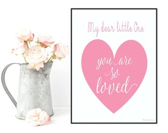 Poster baby girl, Quote baby, Poster quote, Nursery wall decor, Nursery art girl, Children illustration, Kids room prints, Baby girl decor