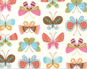 "Moda ""Wing & Leaf"" by Gina Martin ~ Butterflies ~ Cloud 10062 11 ~ By The Half Yard ~"