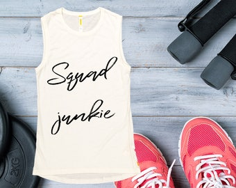 Women's Tank Top -Squad Junkie, Spin Junkie,  Workout Clothing