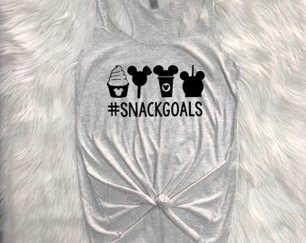 Snack goals Triblend Racerback, Snackgoals shirt, Disney inspired shirt, Disney inspired tee, snackgoals T-shirt