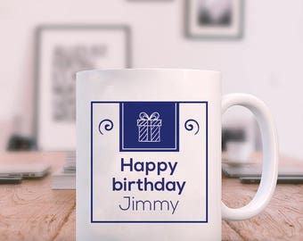 Exquisite and Beautiful Happy Birthday Personalized Mug For B'day Gift