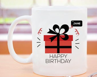 Personalized Happy Birthday Mug A Memorable Birthday Gift for Girls