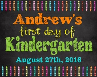 First Day of School sign, First day of school printable, 1st day of school first day of school chalkboard, first day of preschool, first day