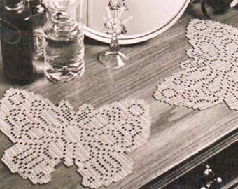 Butterfly Filet Doily, Crochet Pattern. PDF Instant Download.