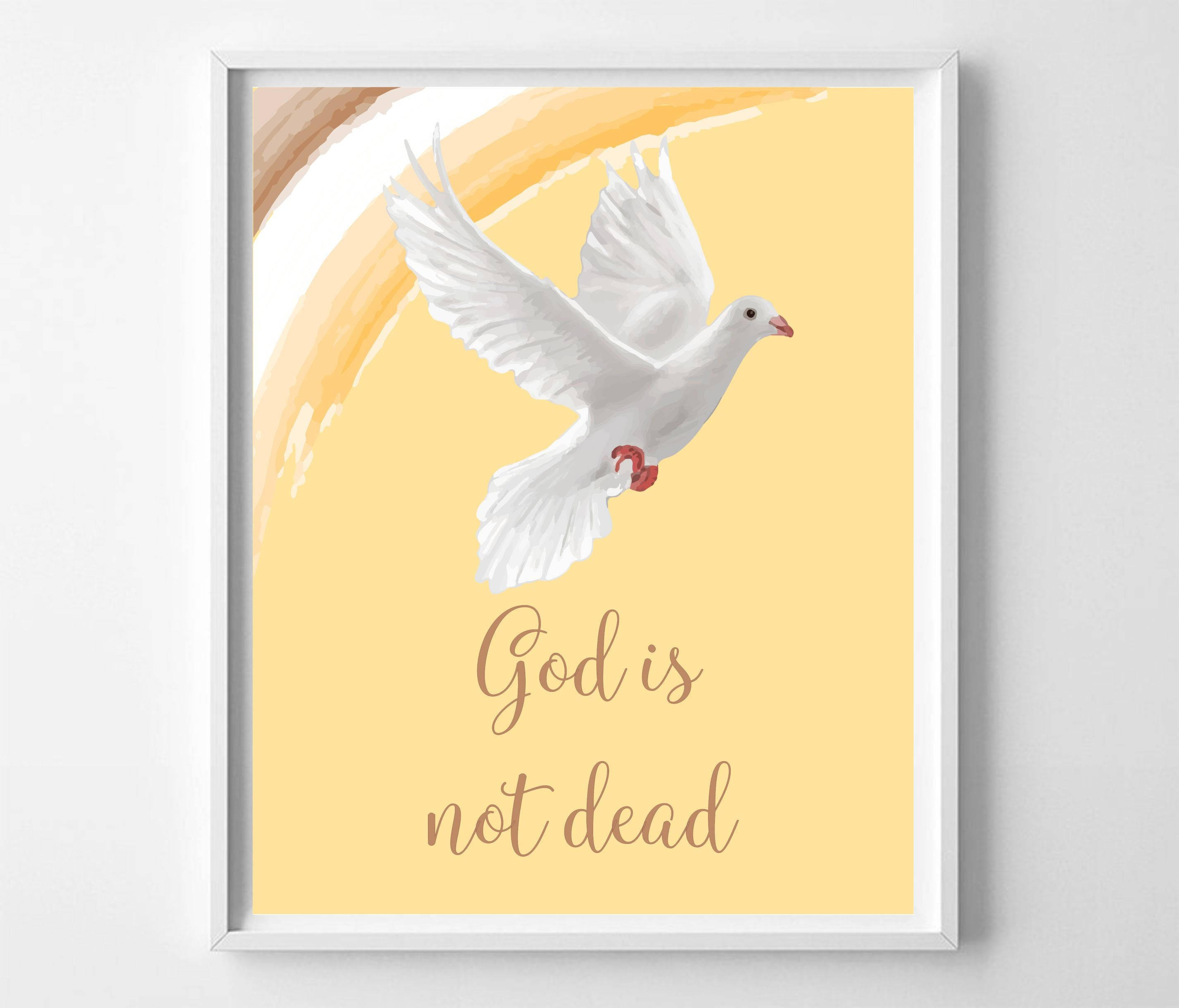 Bible print confirmation gift holy spirit dove archival print zoom negle Choice Image