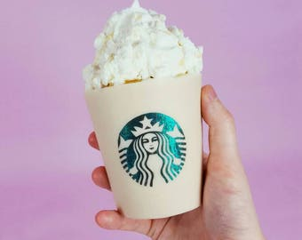 Life Size 14oz Starbucks Candle - Personalised Coffee Candles - Vegan Soy Candle - Iced Coffee, Cappuccino, Scented Candle, Aroma Candle